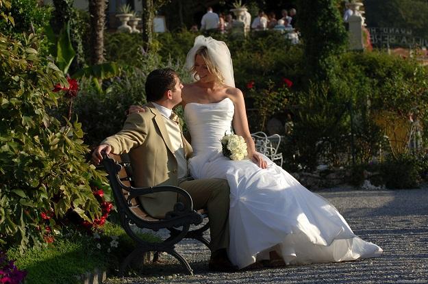 Свадьба в Венеции в чудесном саду